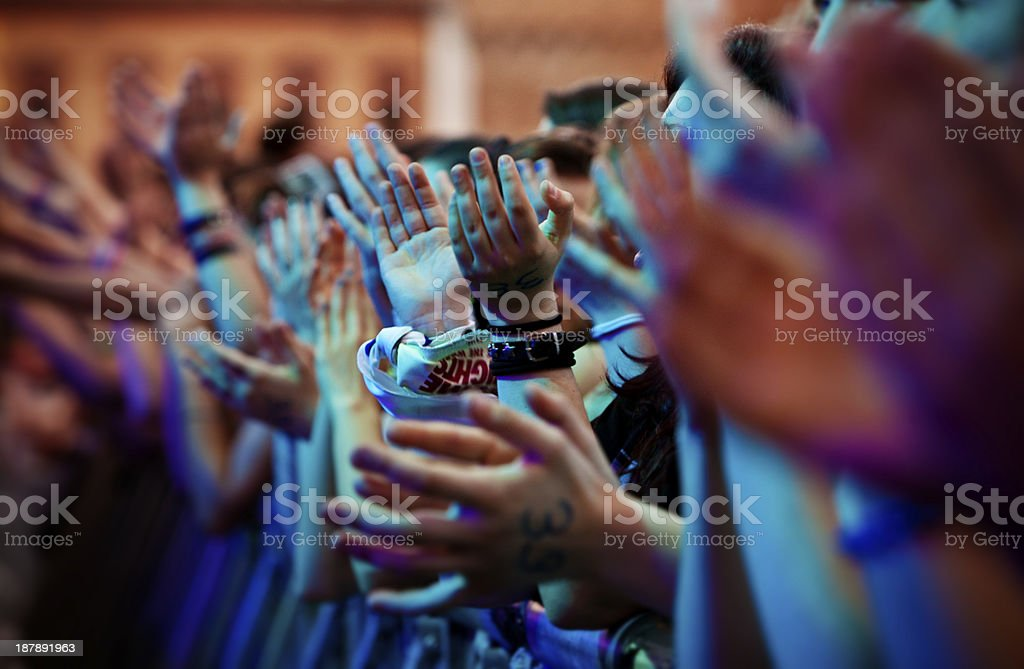Audience clapping stock photo