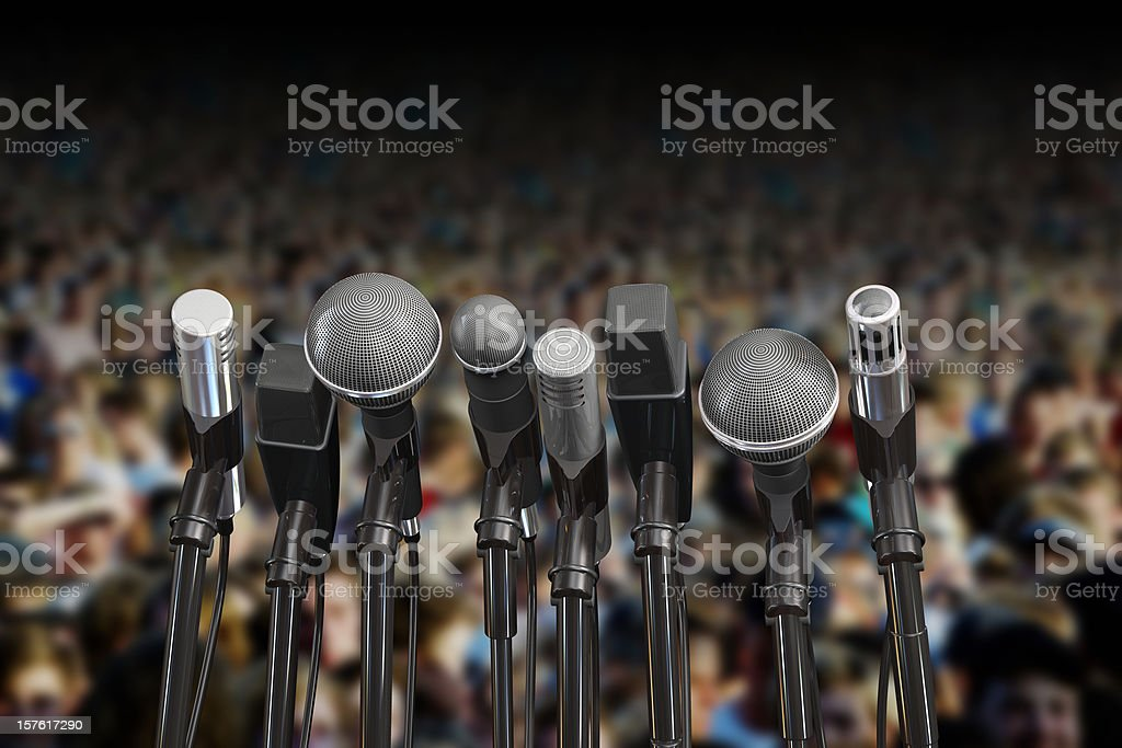 Audience conference stock photo