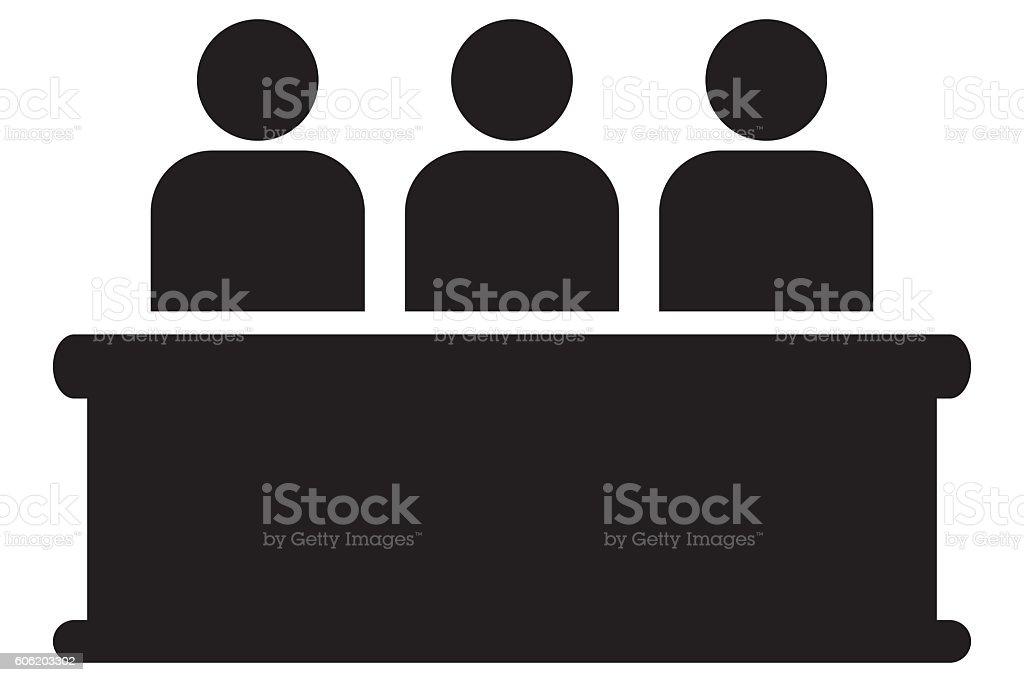 Audience icon stock photo