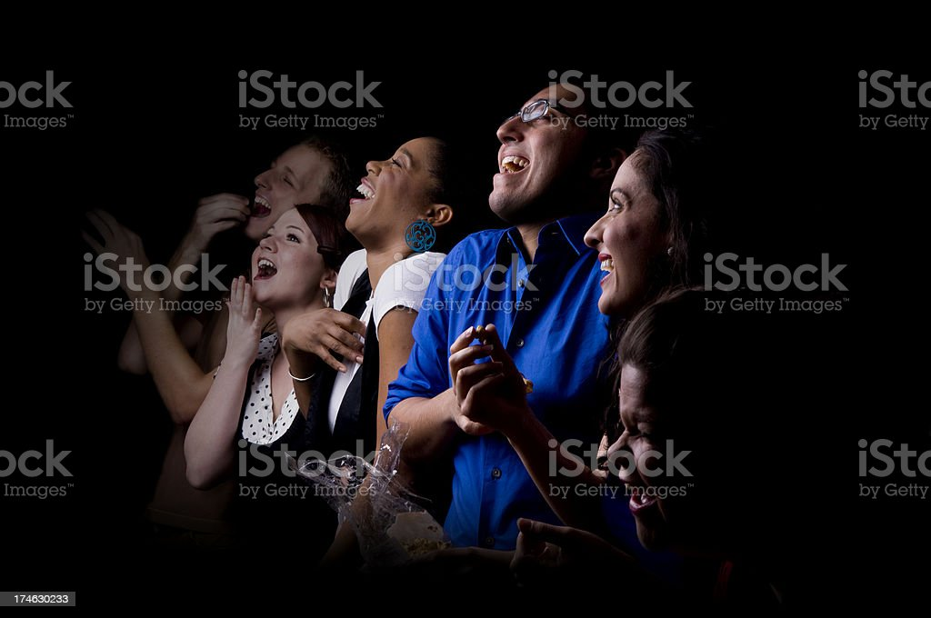 Audience Laughter royalty-free stock photo