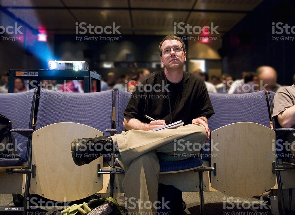Audience member royalty-free stock photo