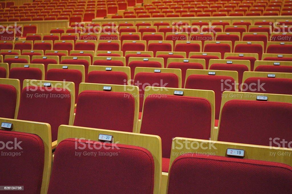audience seat stock photo