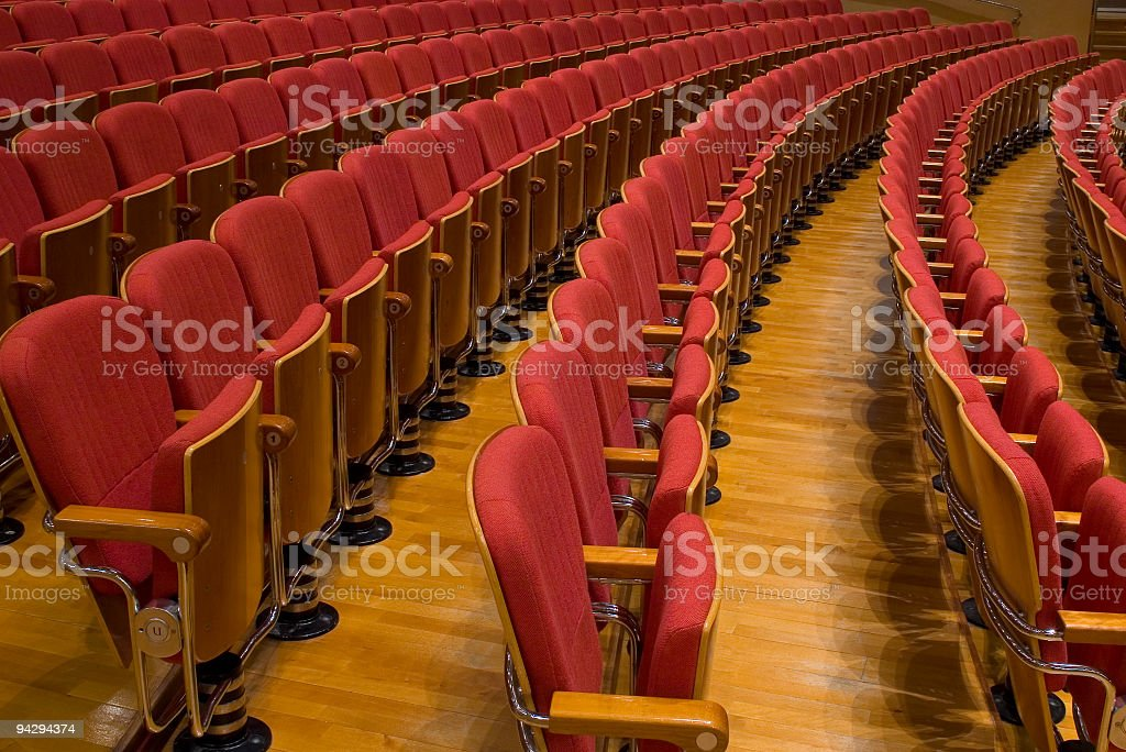 Audience seating royalty-free stock photo