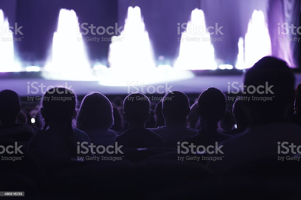 Audience watching a live performance stock photo