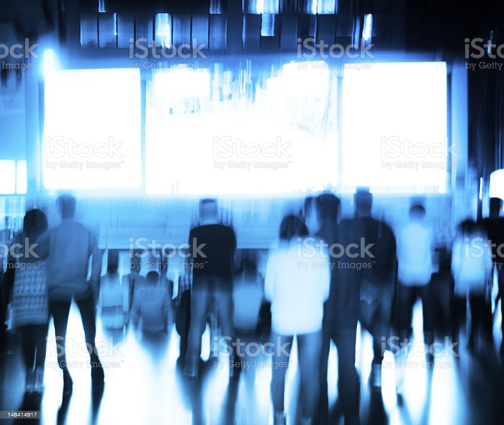 audience watching outdoor film royalty-free stock photo