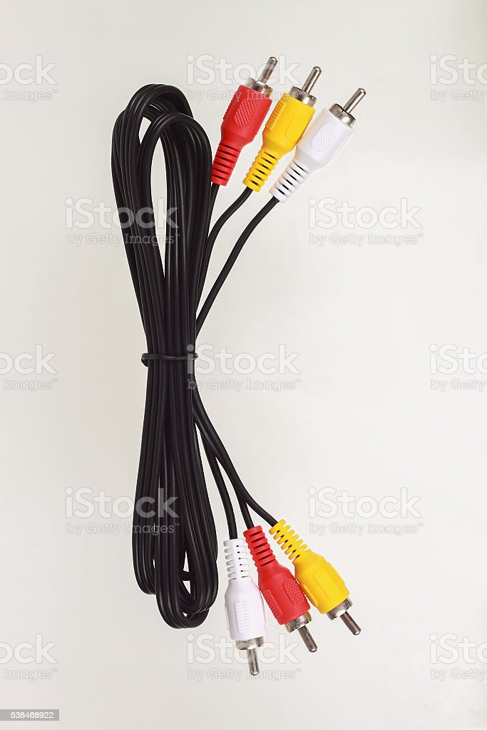 Audio and video cable for pattern stock photo