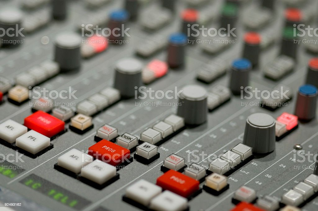 Audio Board stock photo