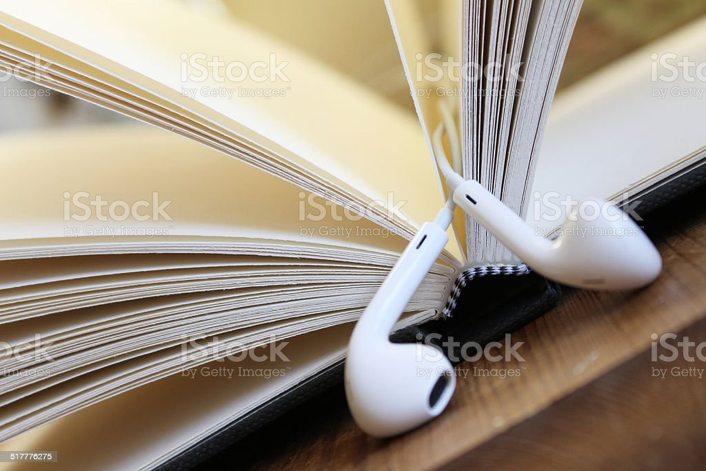 Audio Book stock photo