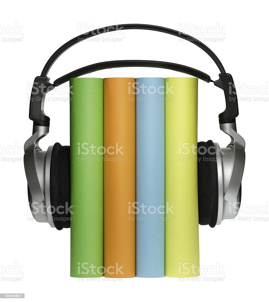 Audio Books stock photo