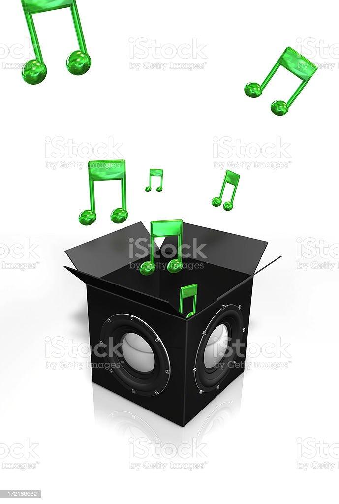 Audio box royalty-free stock photo