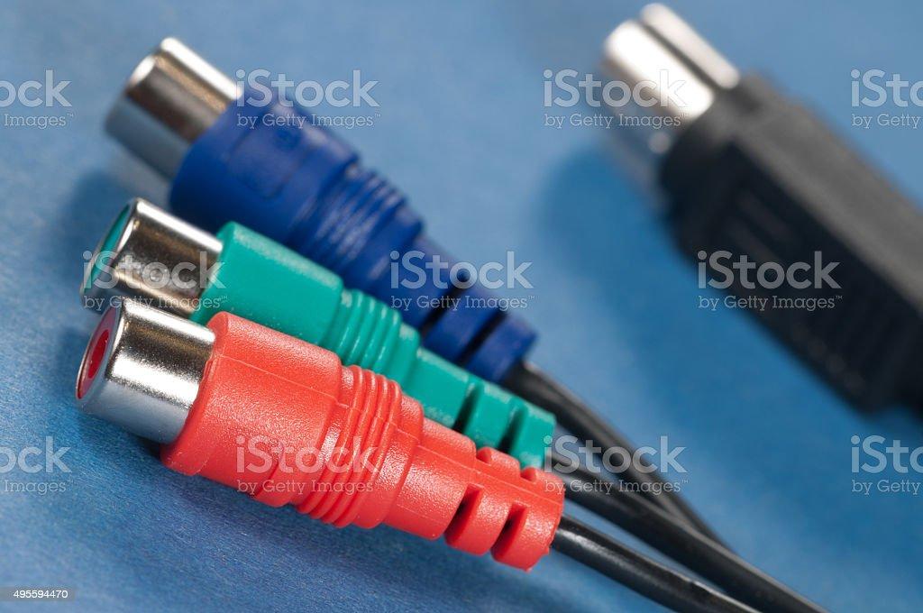 Audio cable stock photo