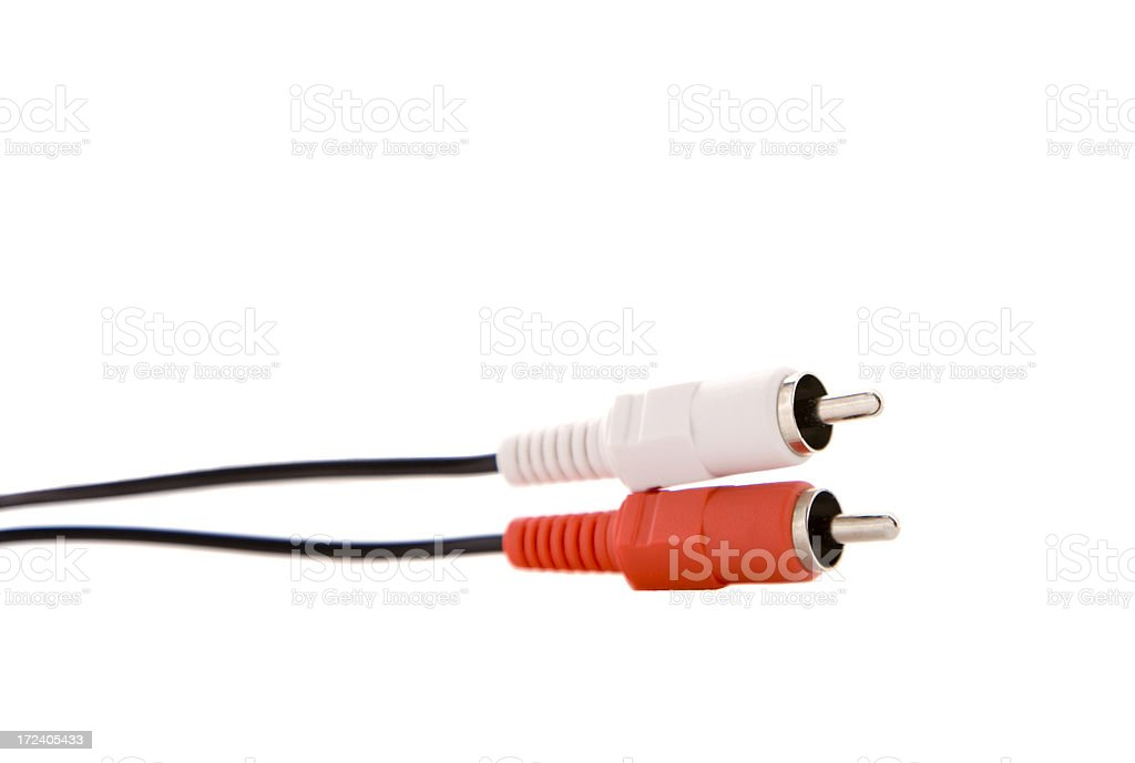 Audio Cables royalty-free stock photo