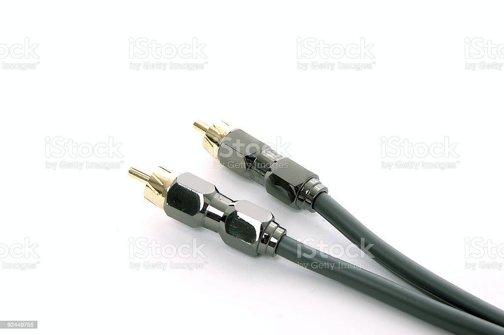 Audio cables #2 royalty-free stock photo