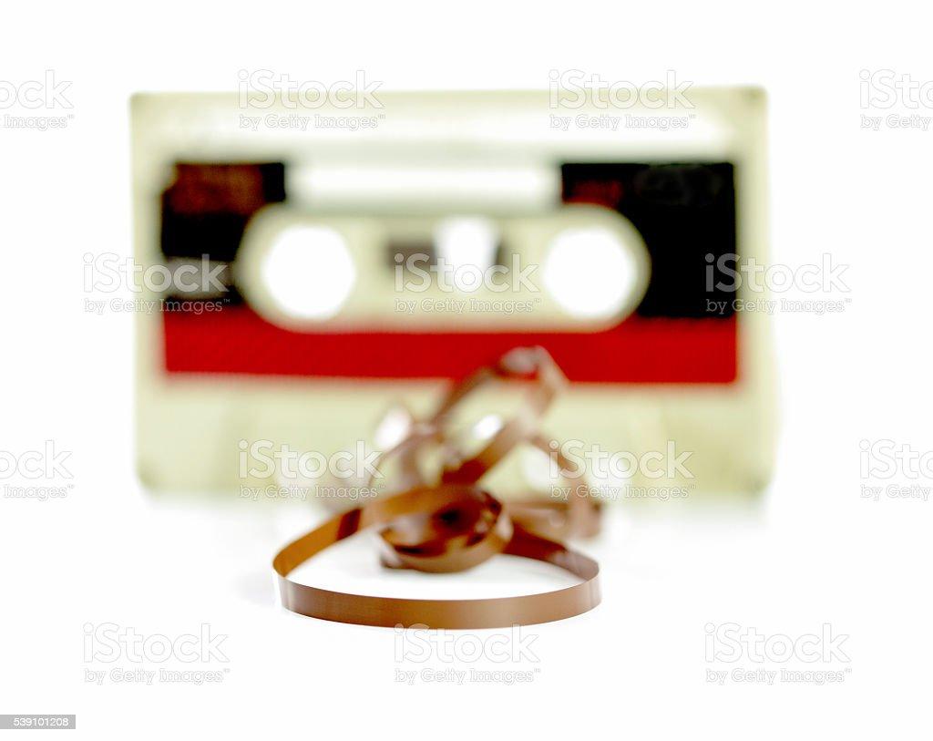 audio cassete tape, macro picture stock photo