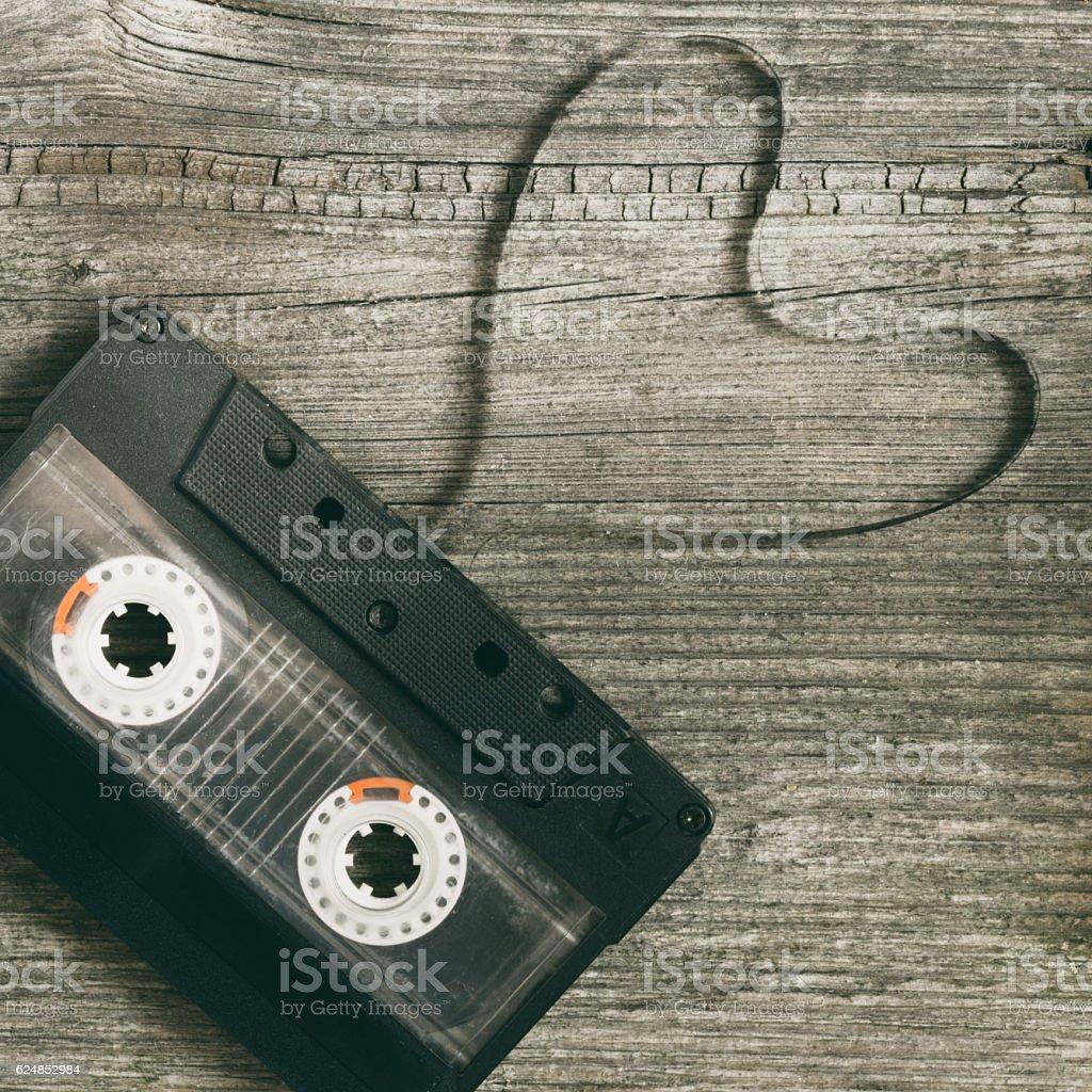 audio cassette heart stock photo