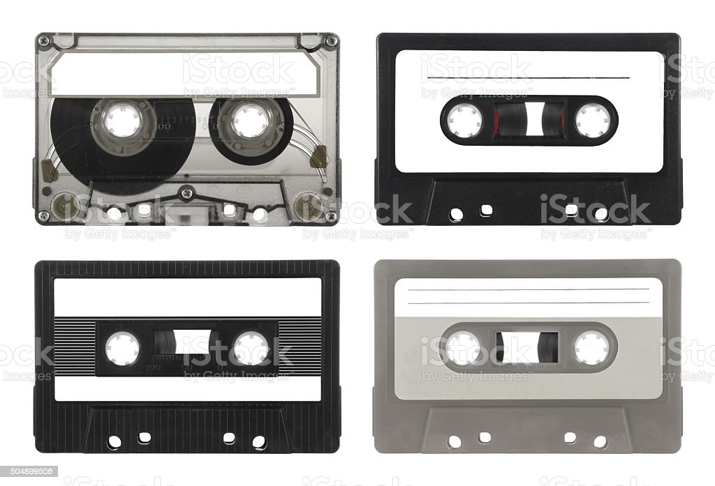 Audio cassettes Collection (with path) stock photo