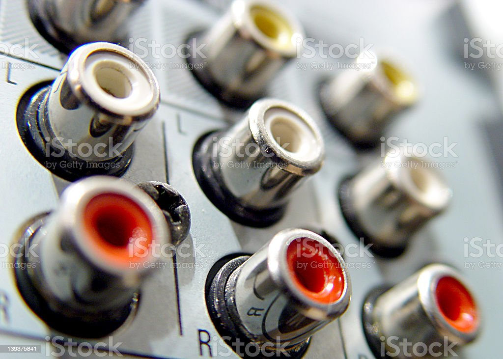 Audio Connectors Close-up royalty-free stock photo