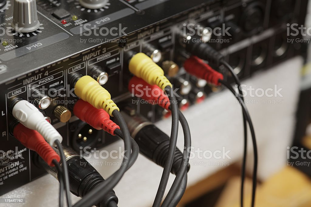 Audio Connectors royalty-free stock photo