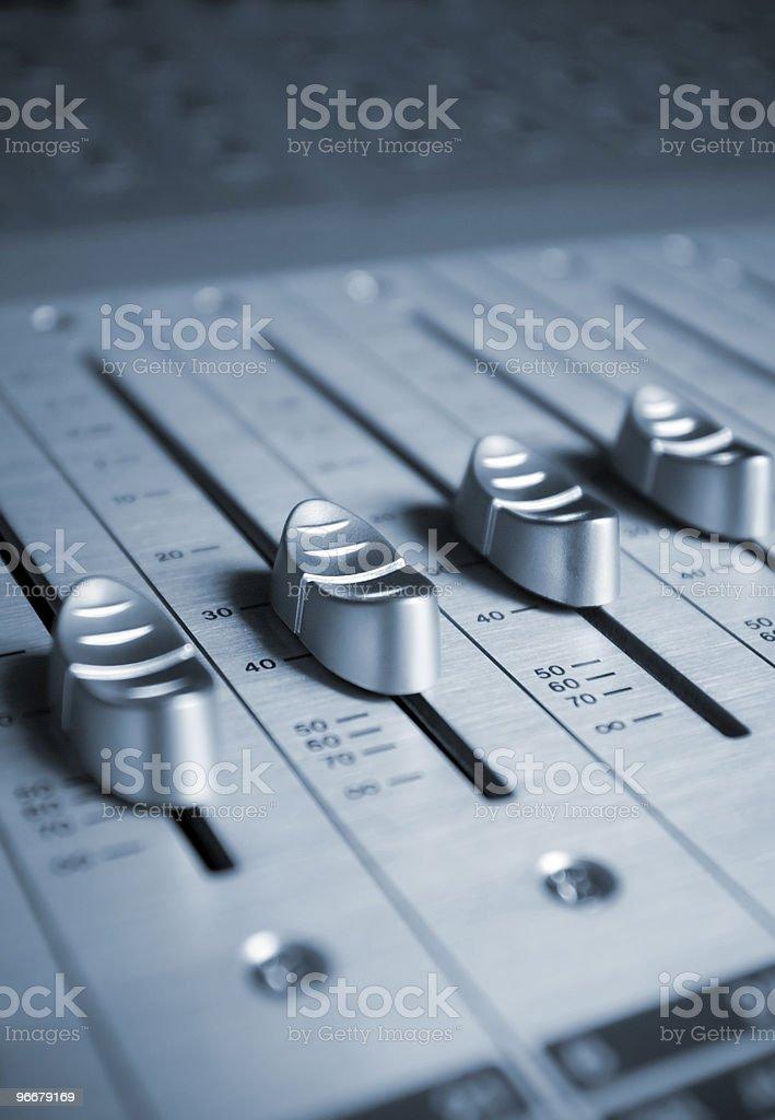 Audio Engineer Mixing Board royalty-free stock photo