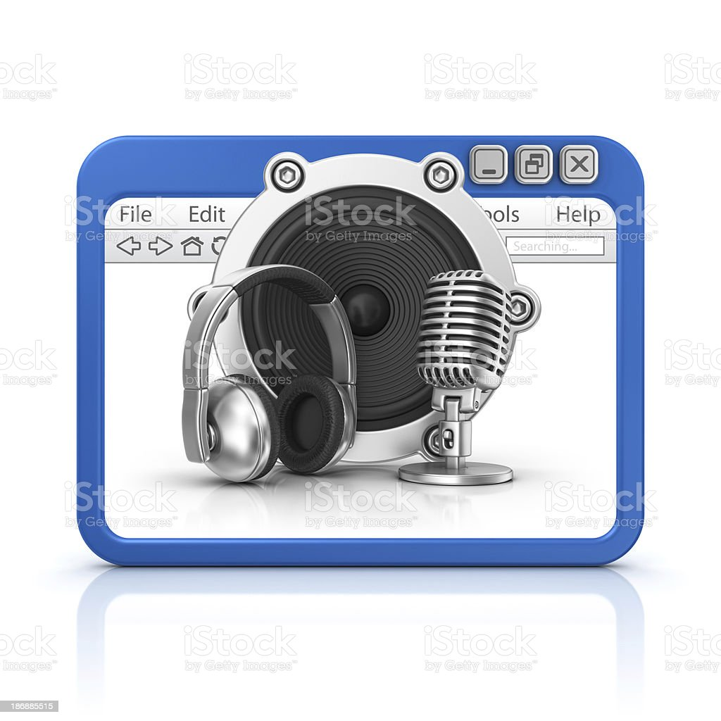 audio equipment in browser royalty-free stock photo