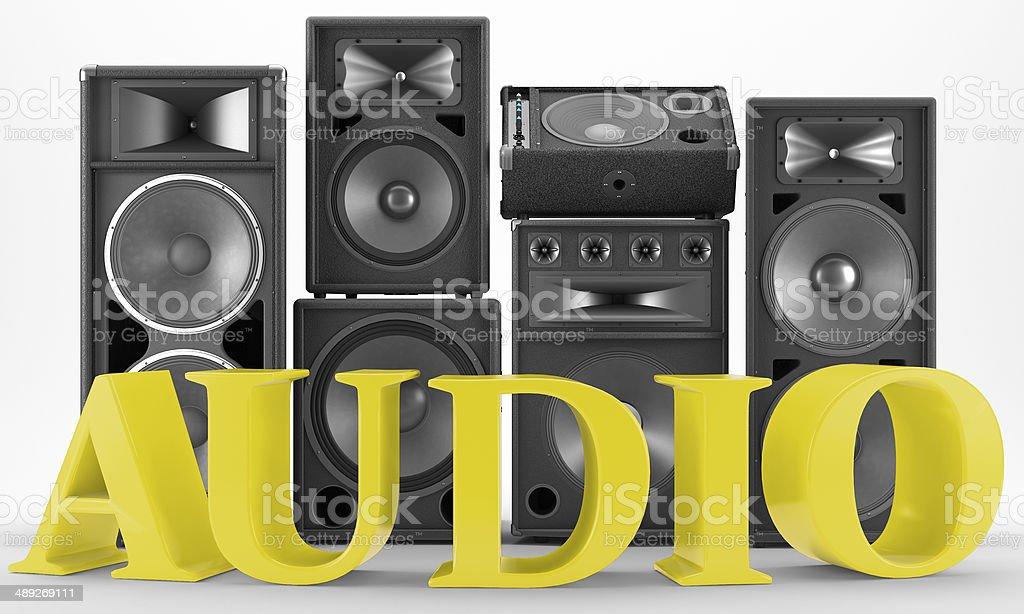 Audio Icon - Altavoces para discoteca o fiestas stock photo