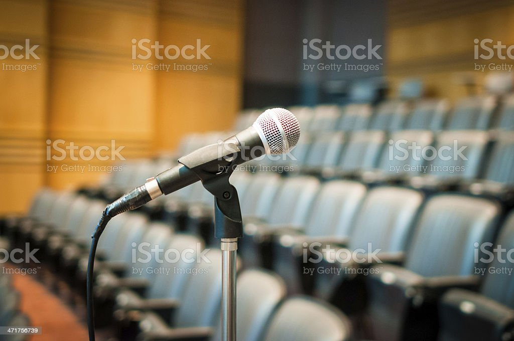 Audio microphone against the background stock photo