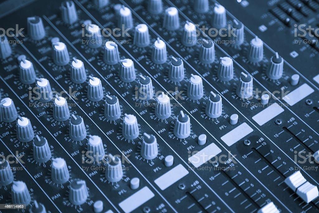 audio mix panel stock photo