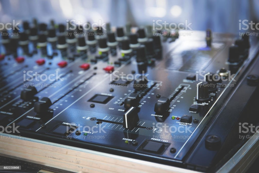 Audio mix pult outdor stock photo