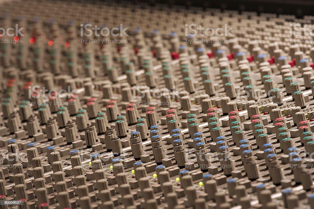 Audio mixer 4 royalty-free stock photo