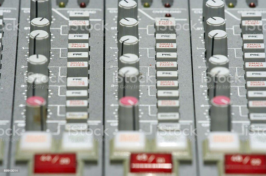 Audio mixer 5 stock photo