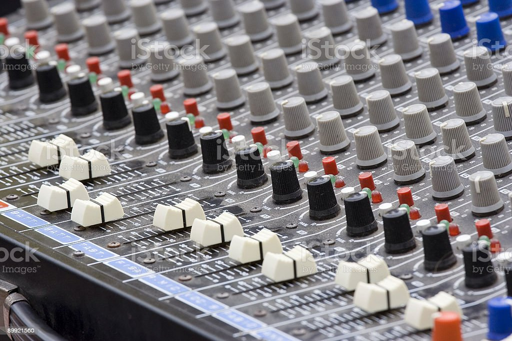 Audio Mixer Equalizer stock photo