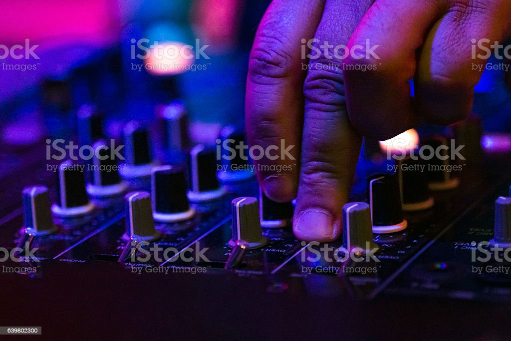 Audio mixer equipment stock photo