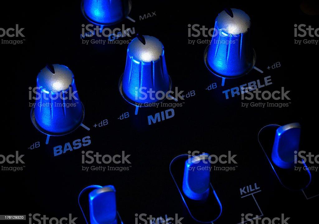 Audio Mixer Knobs stock photo