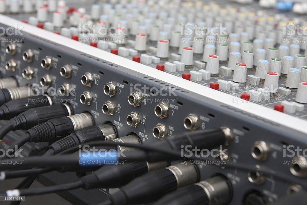 Audio mixer. royalty-free stock photo