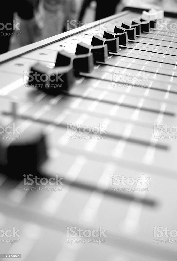 Audio Mixer  (Board Sliders) royalty-free stock photo