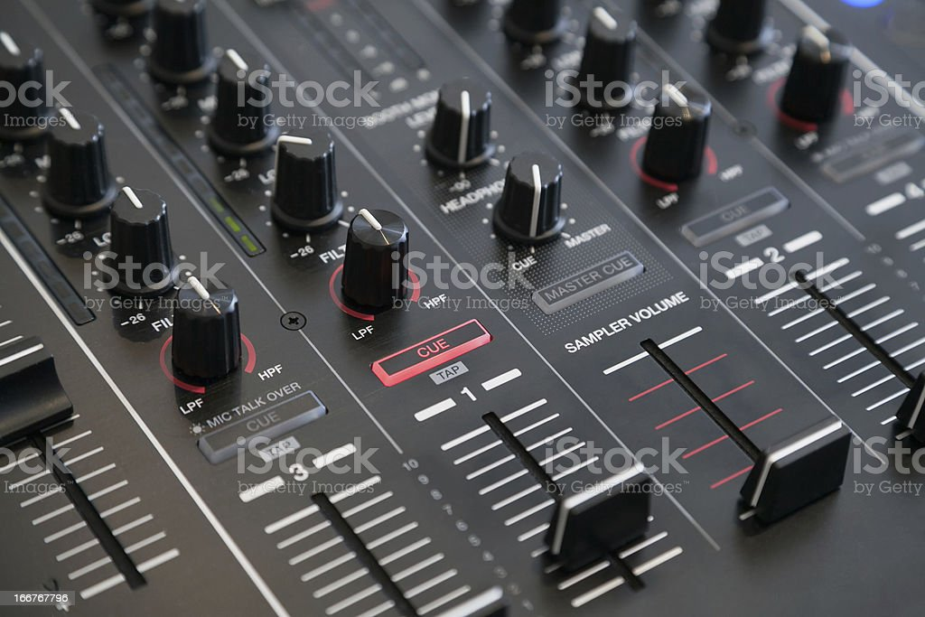 audio mixer royalty-free stock photo