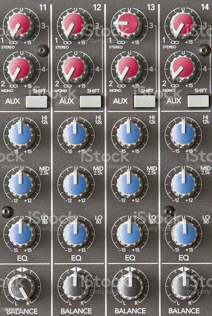 Audio Mixer royalty-free stock photo