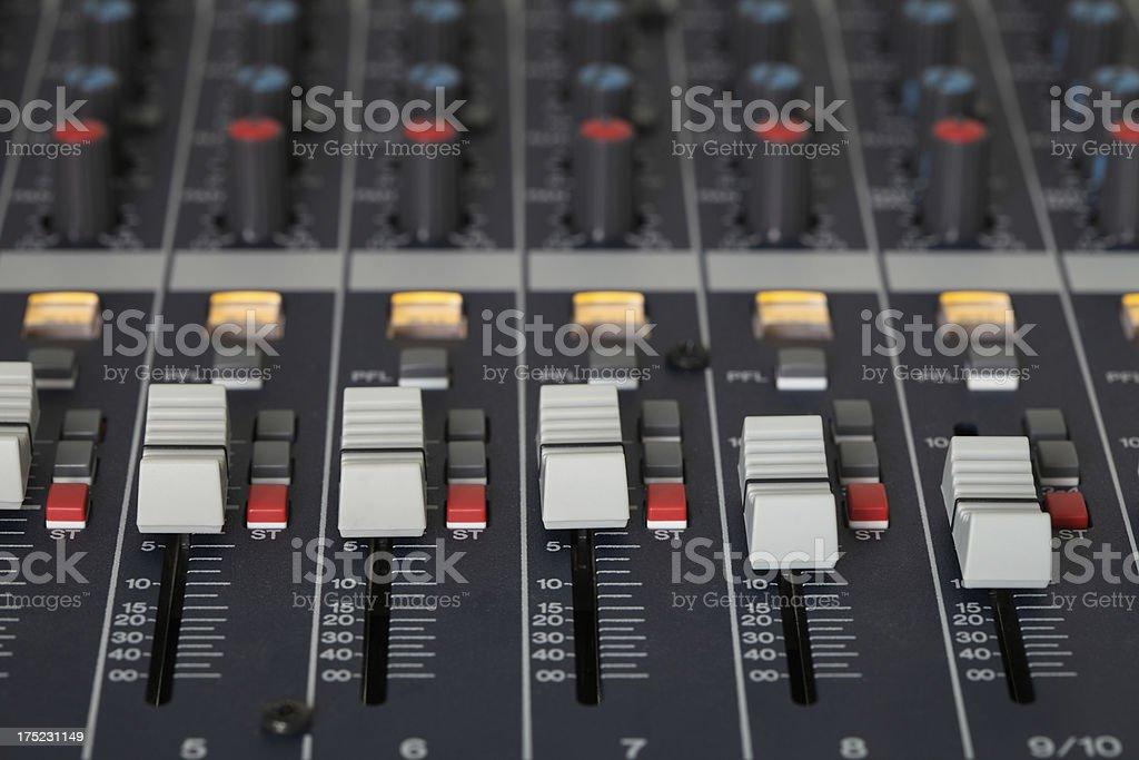 Audio Mixing Board royalty-free stock photo