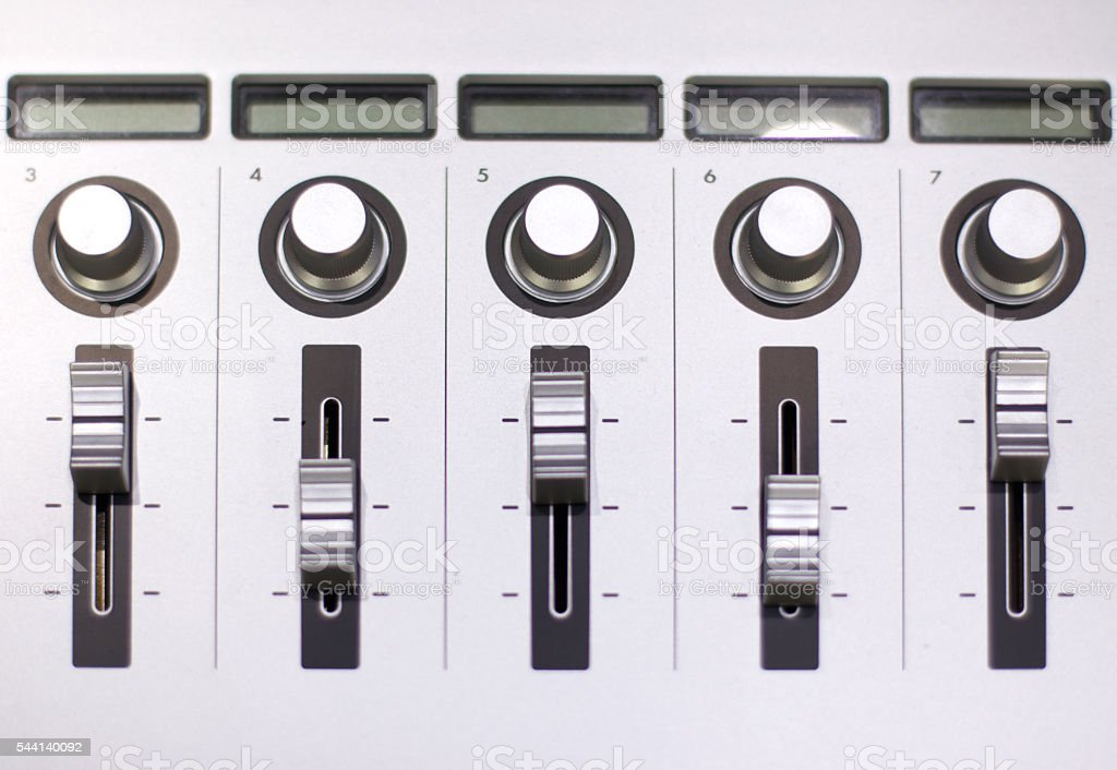 Audio Mixing Board stock photo