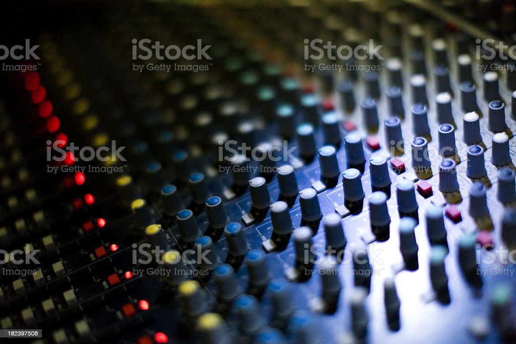 Audio mixing Console royalty-free stock photo