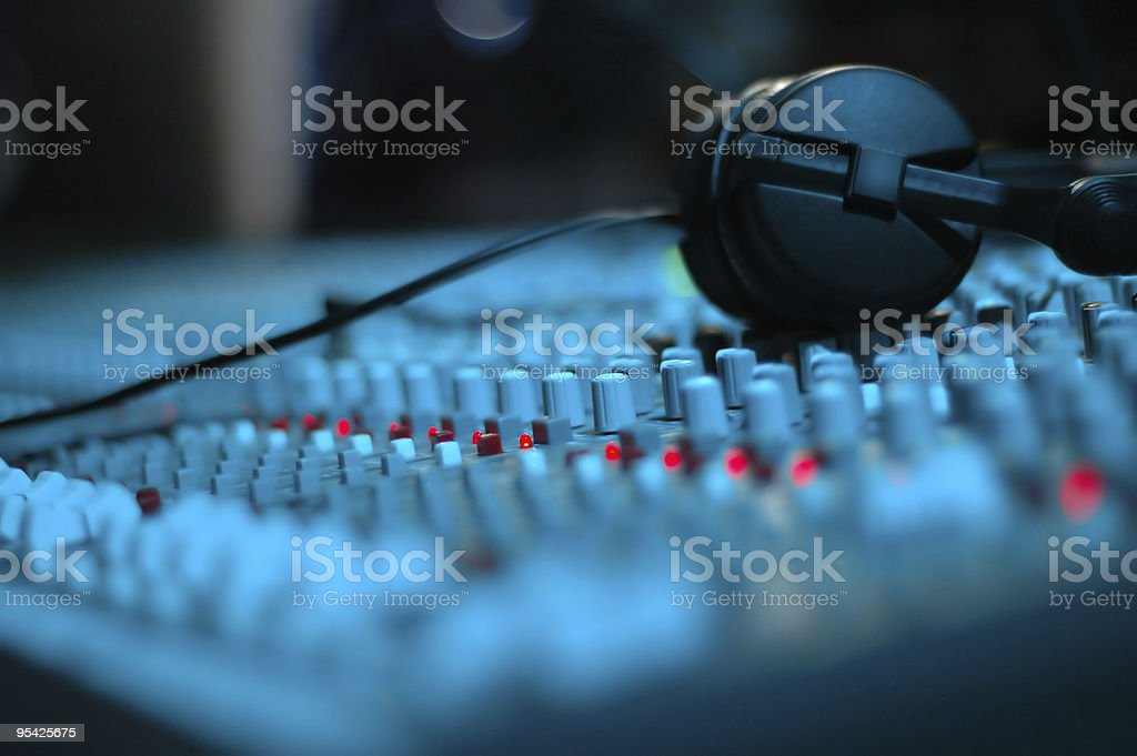 Audio Mixing Console stock photo