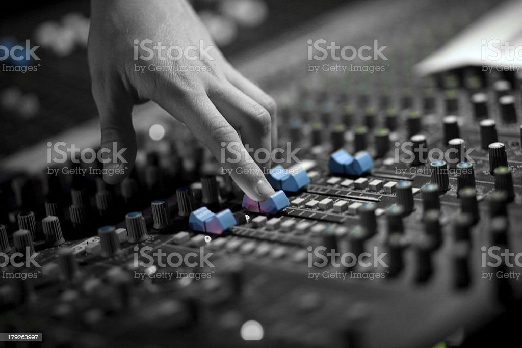 audio mixing stock photo