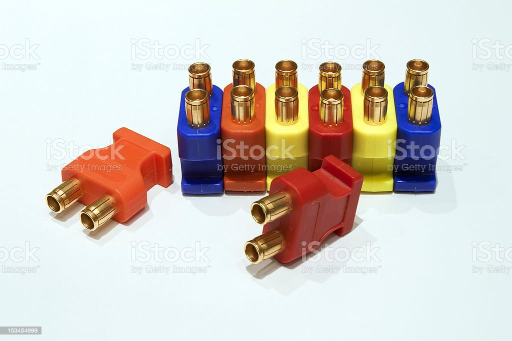 Audio  Patchbay Plugs stock photo