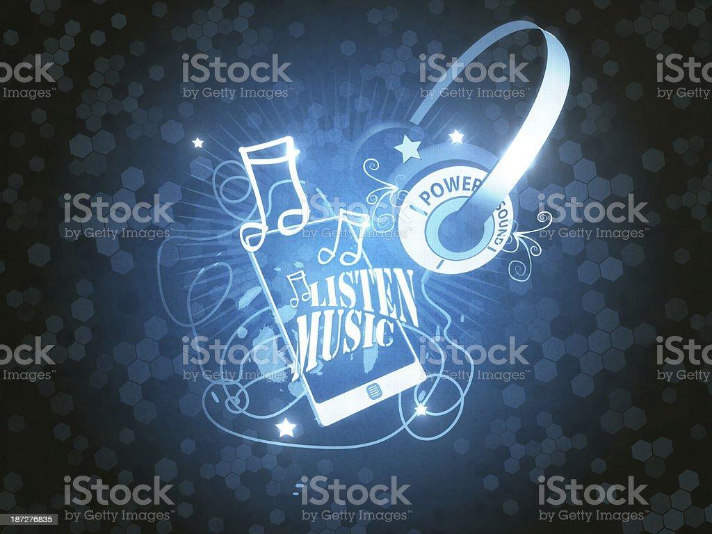 Audio Player royalty-free stock photo