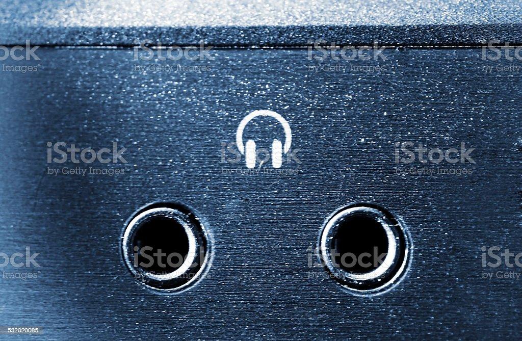Audio Plug input stock photo
