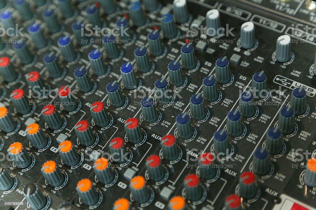 Audio production switcher stock photo
