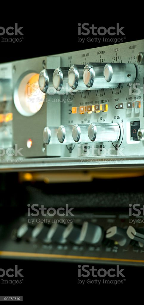 Audio Recording Equipment stock photo