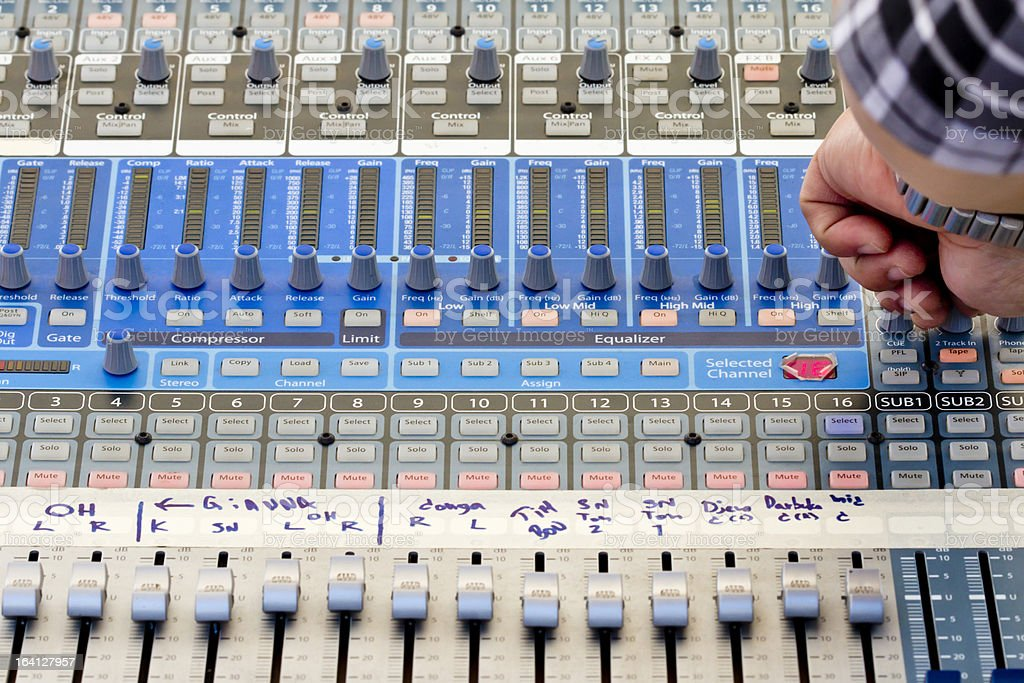 Audio sound mixer in concert royalty-free stock photo