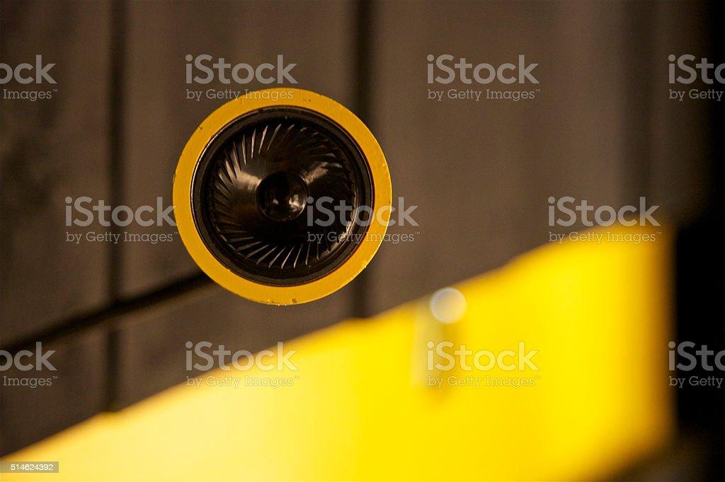 Audio Sound Surround Music Circle Speaker Residential Ceiling stock photo