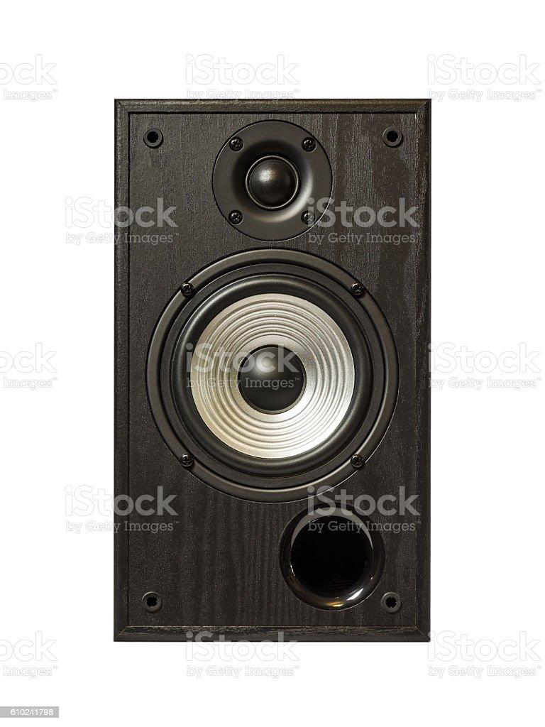 Audio speaker isolated in white stock photo